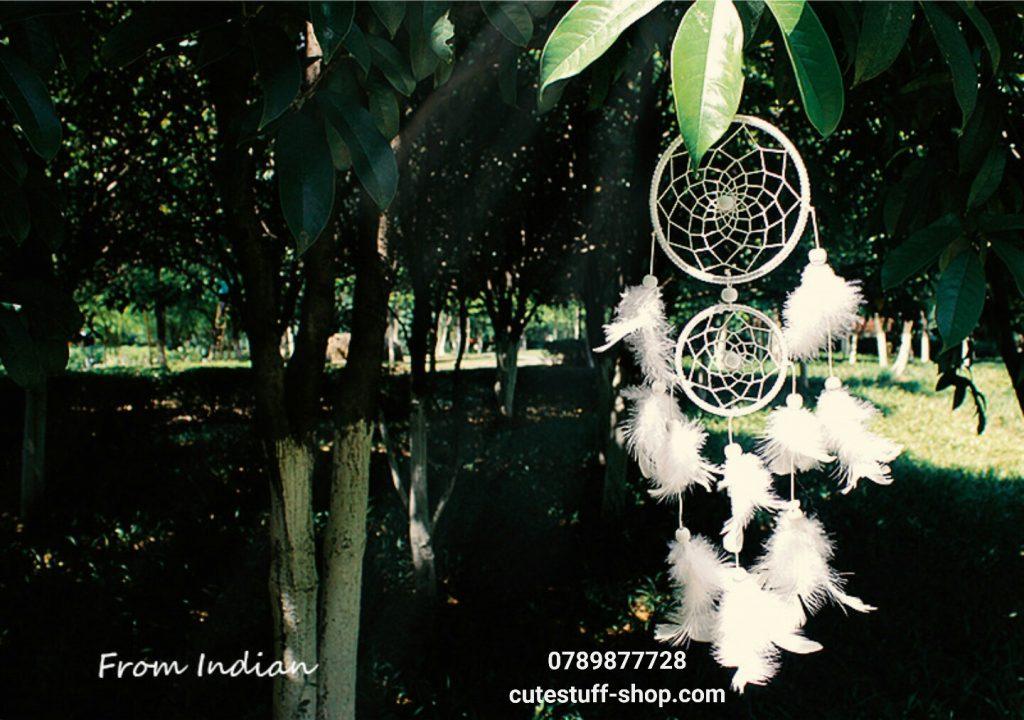 Dreamcatcher Lưới Bắt Giấc Mơ Lông Tuyết đẹp