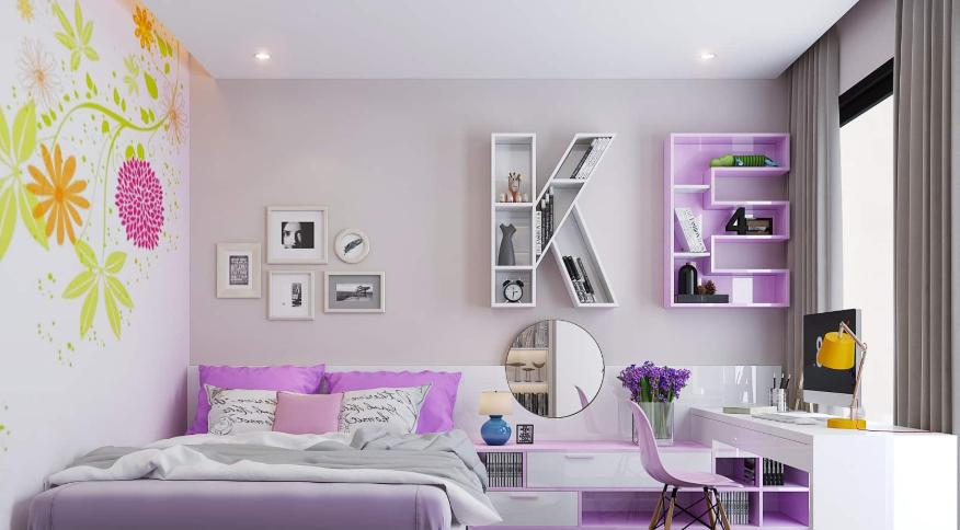Kệ trang trí phòng ngủ siêu ấn tượng