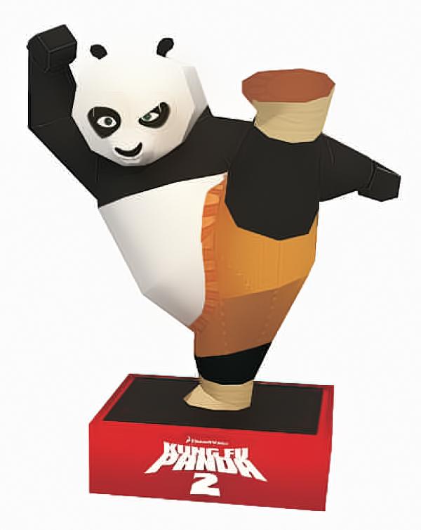 Mô hình PaperCaft KungFu Panda có giá từ 1xx