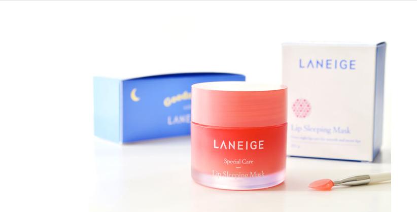 Mặt nạ ngủ môi Laneige Lip Sleeping Mask sử dụng vào buổi tối