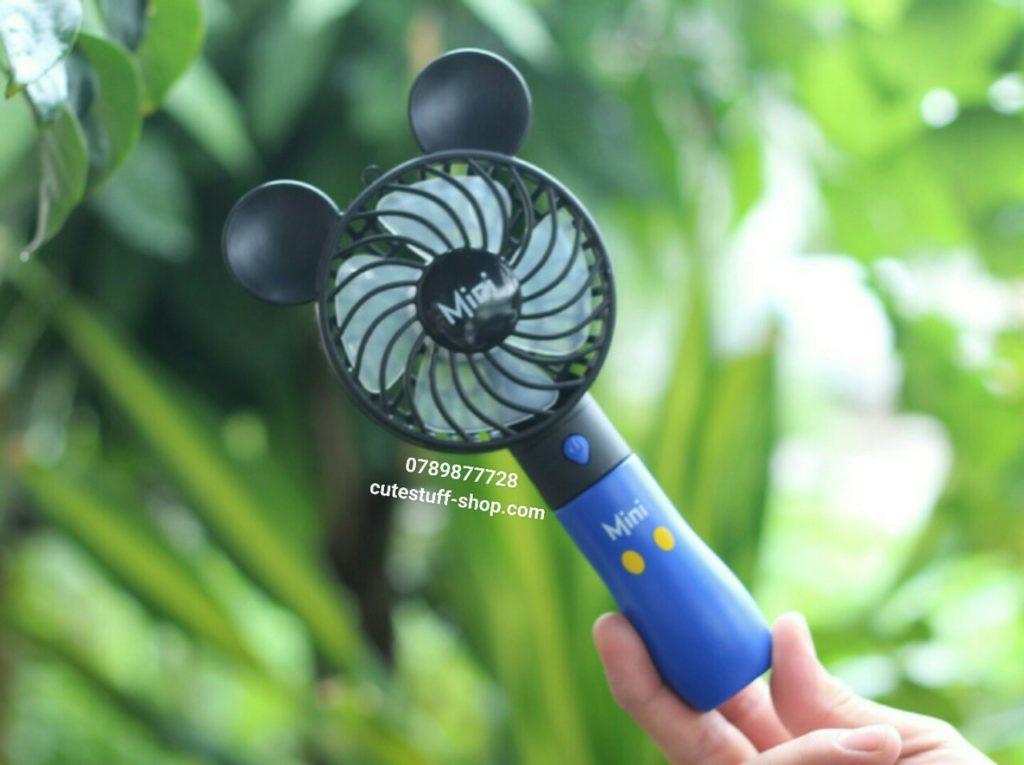 Quạt sạc pin mini cầm tay mickey đẹp