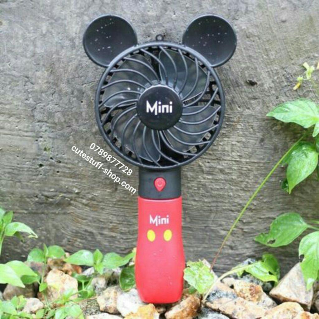 Quạt sạc pin mini cầm tay mickey