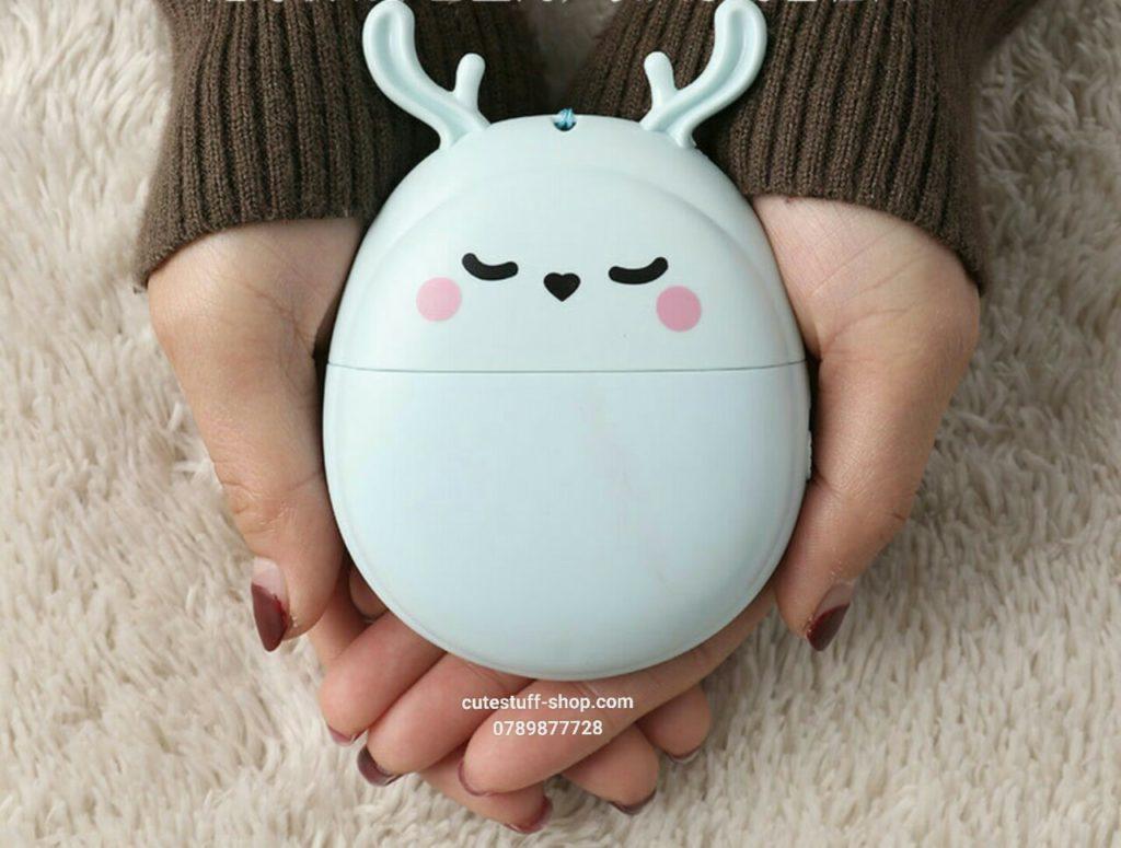 Quạt sạc pin mini cầm tay thỏ và tuần lộc đáng yêu