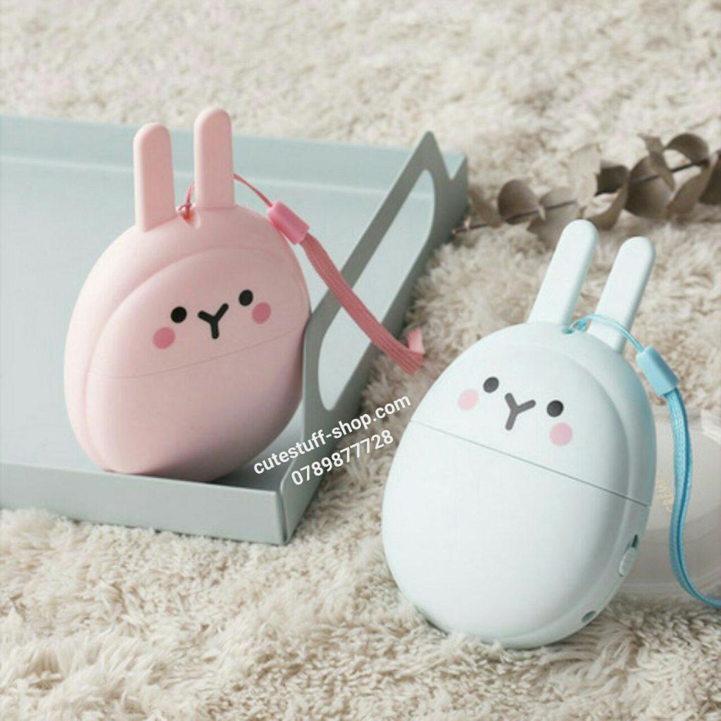 Quạt sạc pin mini cầm tay thỏ và tuần lộc đẹp