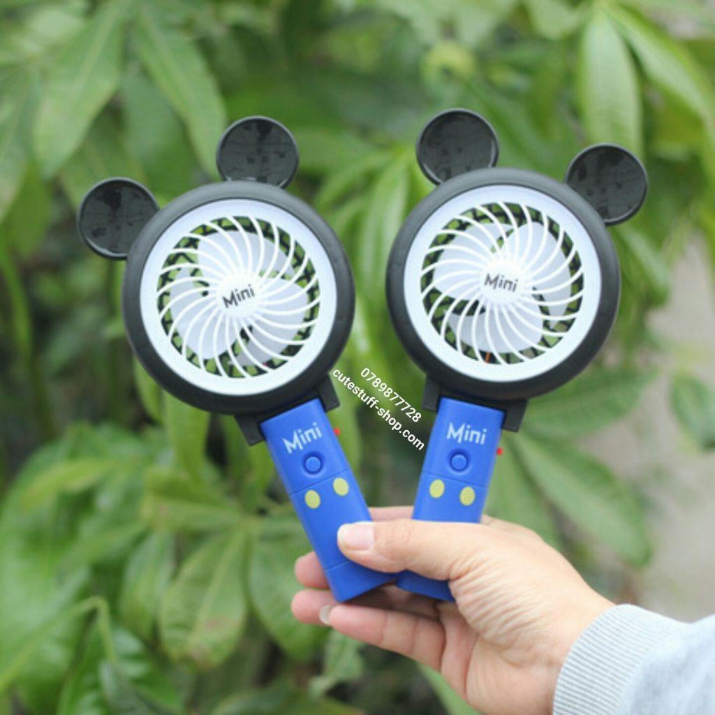 Quạt sạc pin mini cầm tay và để bàn 3 in 1 Mickey đẹp