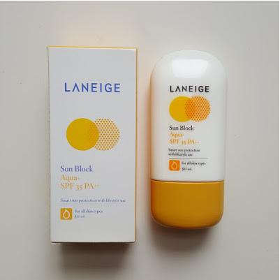 Review kem chống nắng Laneige