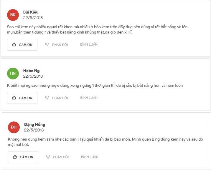 Review kem sâm Thái Lan Cô Tiên xấu 2