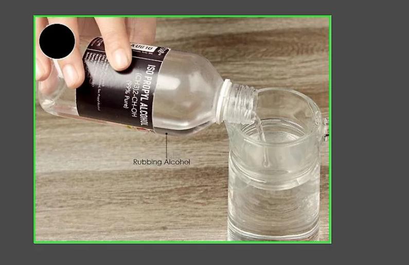 Sử dụng nước và rượu để xóa dấu vân tay