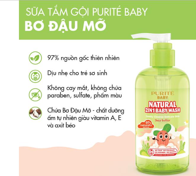 Sữa tắm an toàn cho da bé được các bác sĩ khuyên dùng
