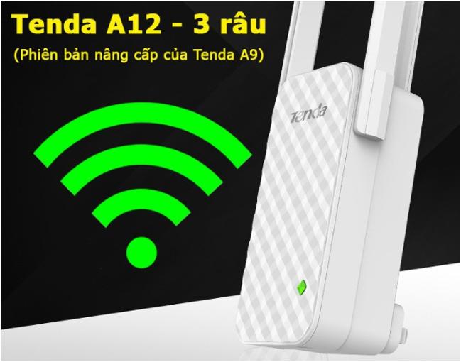 Thiết bị kích sóng wifi tenda A12 phát sóng mạnh mẽ