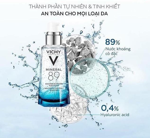 Vichy Mineral 89 an toàn cho mọi loại da