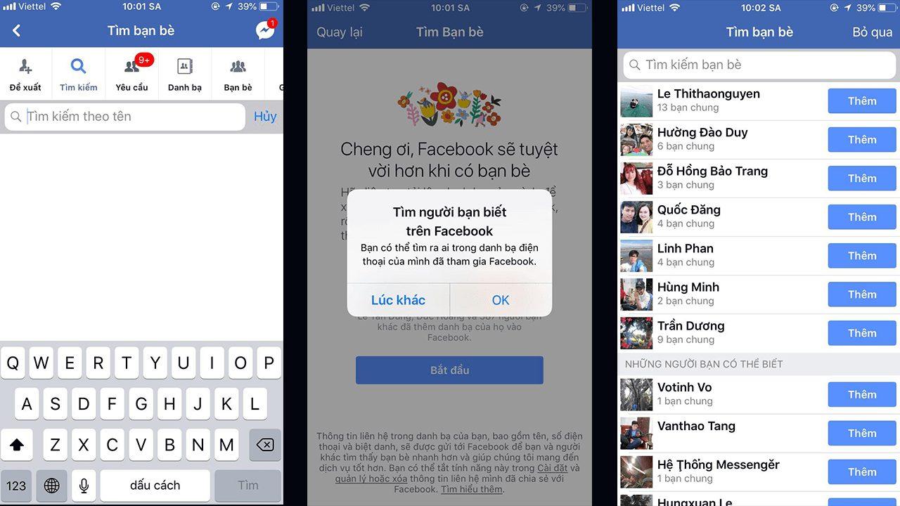 Đồng bộ Facebook với điện thoại của bạn