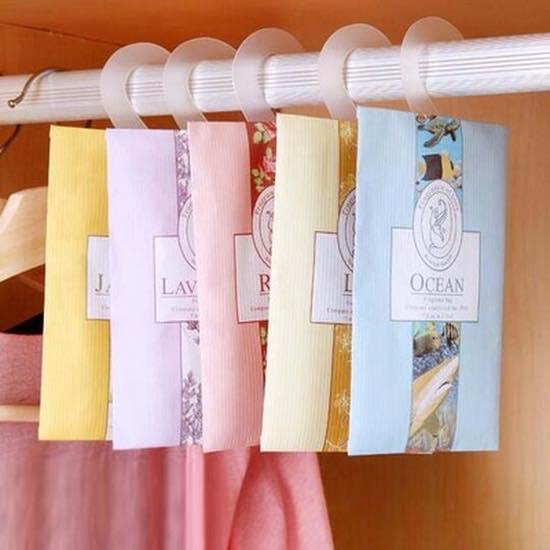 túi thơm giúp cho quần áo trong tủ không bị bốc mùi