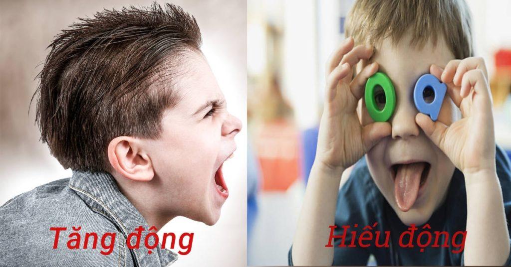 trẻ có xu hướng kích động