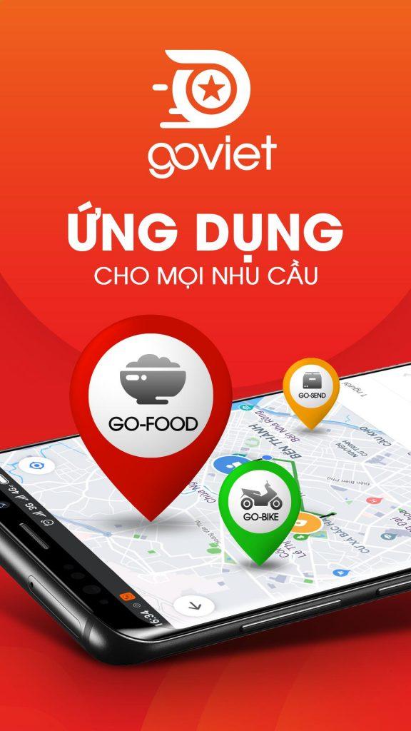 Ứng dụng Goviet cũng là cái tên quen thuộc tại Việt Nam
