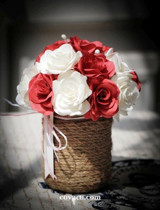 Chậu hoa giấy handmade tặng thầy cô
