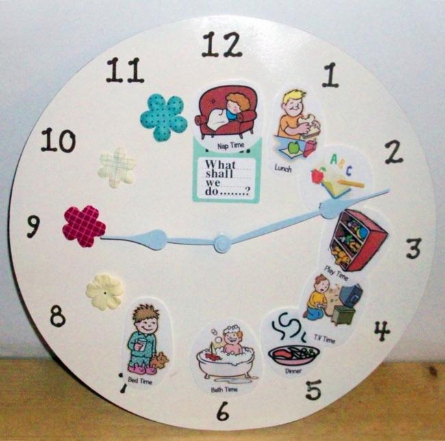 Làm đồng hồ cho bé