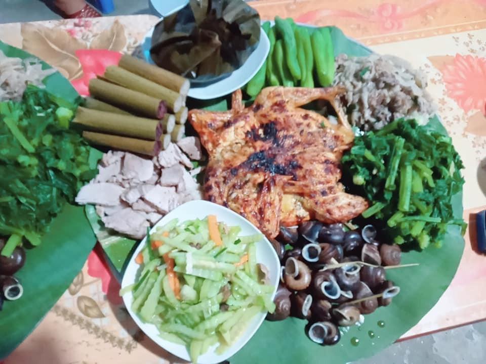 Mâm cơm của người dân tộc Thái Tây Bắc