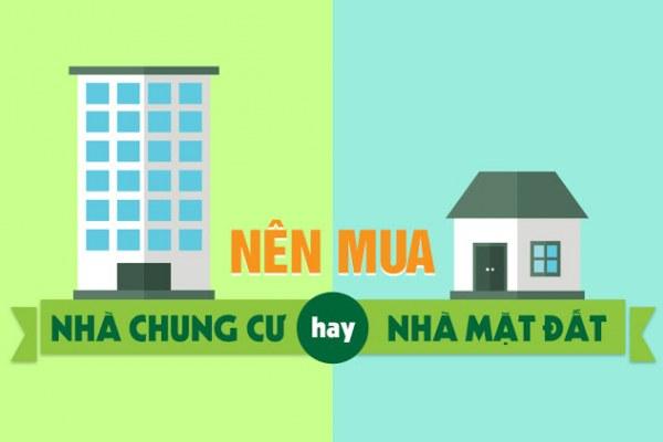 Nên mua chung cư hay nhà mặt đất