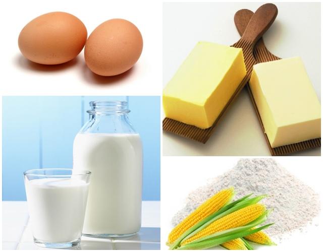 Nguyên liệu để làm món trứng khuấy