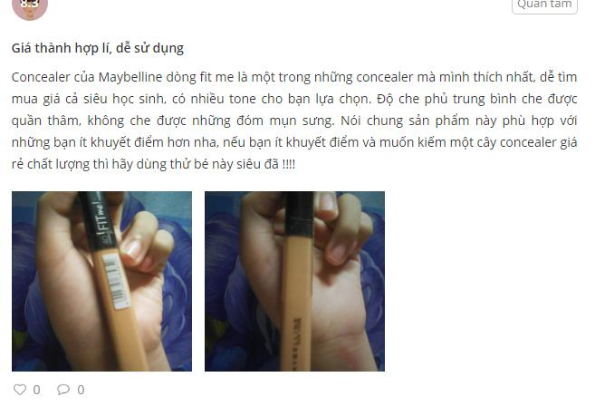 Review kem che khuyết điểm của maybelline