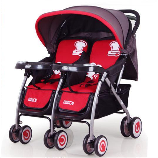 Sử dụng xe đẩy đôi, ba cho gia đình có 2 hoặc nhiều hơn 2 bé