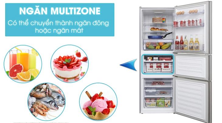 Tủ lạnh Beko cho phép chuyển đổi ngăn đông thành ngăn mát với công nghệ Multizone
