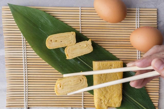 Từng khoanh trứng ngon lành được trang trí đẹp mắt