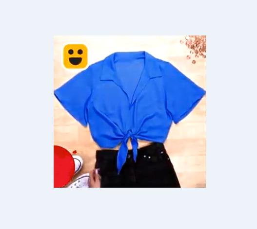 Và cho ra đời chiếc áo màu xanh đẹp mắt