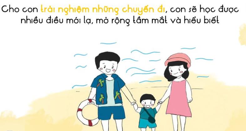 Cha mẹ nên dẫn con đi chơi thường xuyên
