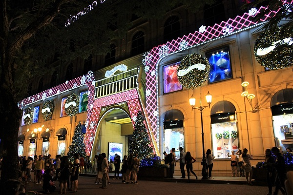 Diamond Plaza tràng ngập không khí Giáng Sinh
