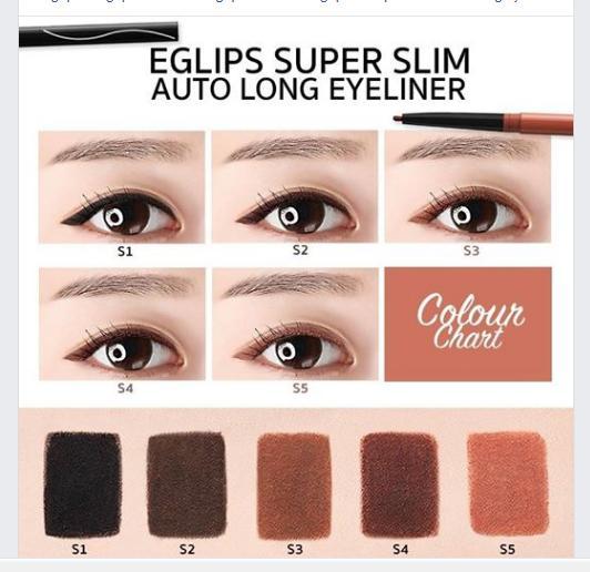 Kẻ mắt Eglips không trôi màu đẹp