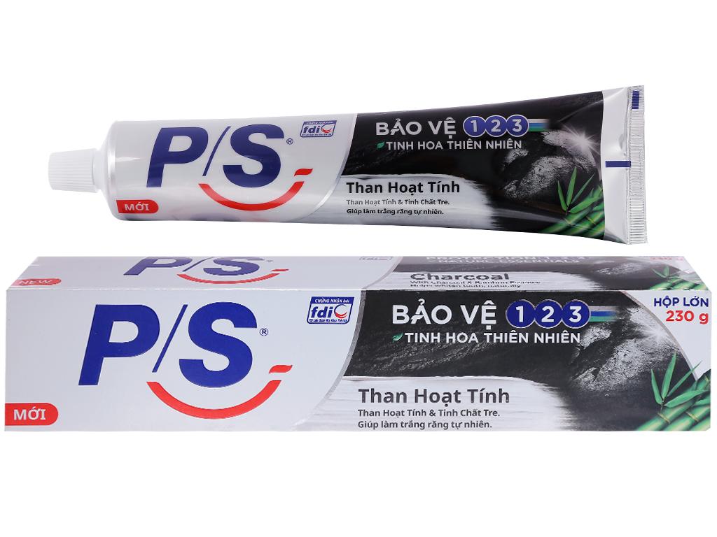 Kem đánh răng PS than hoạt tính giúp làm trắng răng tự nhiên