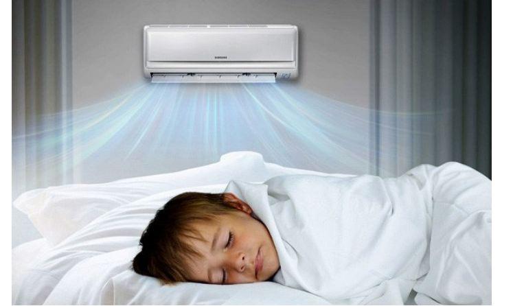 Sử dụng máy lạnh, điều hòa