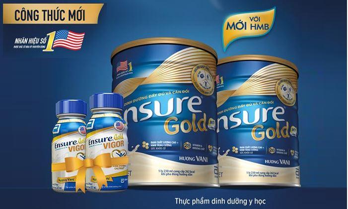 Sữa Ensure Gold mới có thêm thành phần HMB giúp bổ sung dinh dưỡng toàn diện