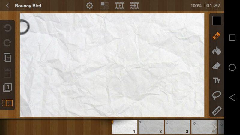 Màn hình làm việc của app với nhiều công cụ để bạn có thể thỏa sức sáng tạo nhất