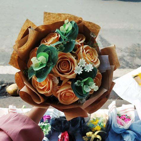 hoa cưới mỹ thuật giao khách của KChand