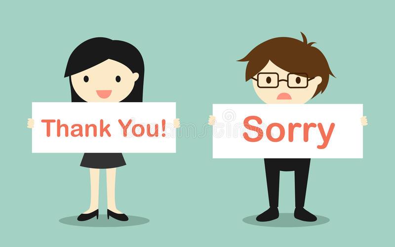 nói cảm ơn và xin lỗi