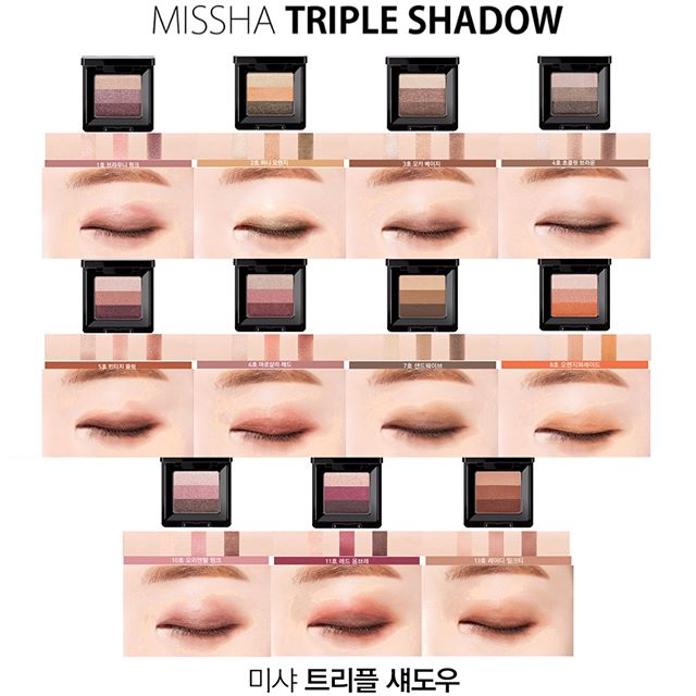 phan mat Missha The Style Triple Shadow 2