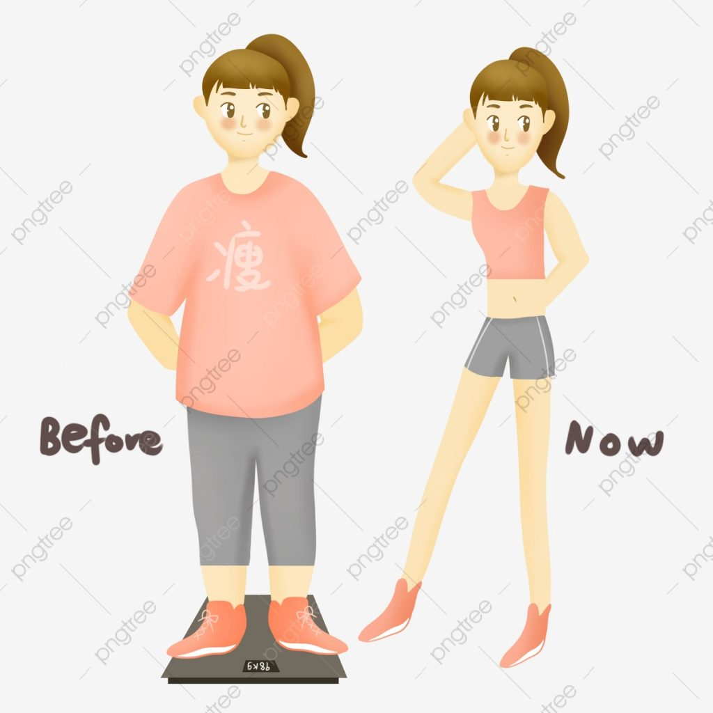pngtree weight loss girls before and after comparison png image 4715005