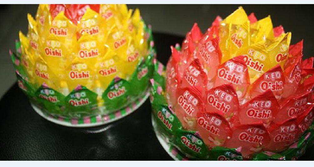 đồ trang trí bằng kẹo hoa sen 1