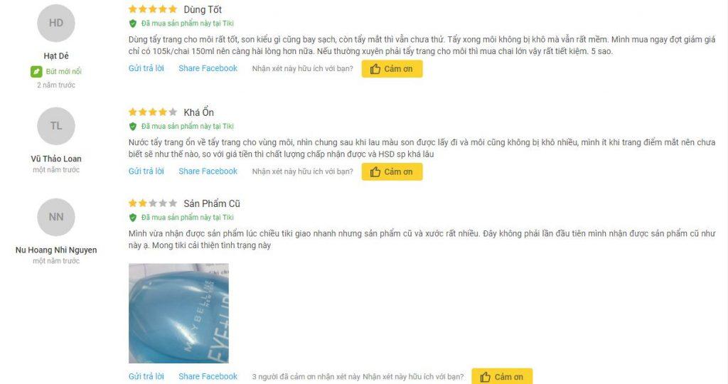 Khách hàng Tiki rất ưng ý về sản phẩm đã mua, đánh giá tốt