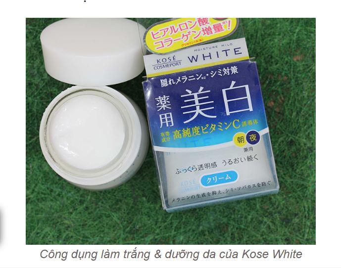 Tác dụng 2 trong 1 làm trắng và dưỡng da tối ưu cho nàng xinh đẹp