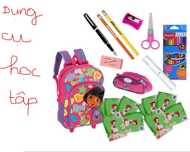 Mua dụng cụ học tập tạo hứng thú học tập cho bé