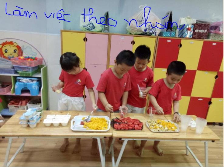 Rèn cho bé kỹ năng làm việc theo nhóm