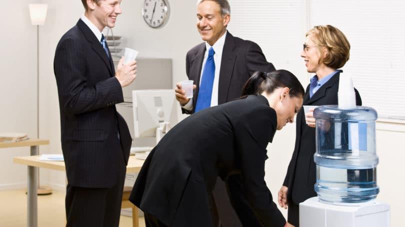 walk quickly around office