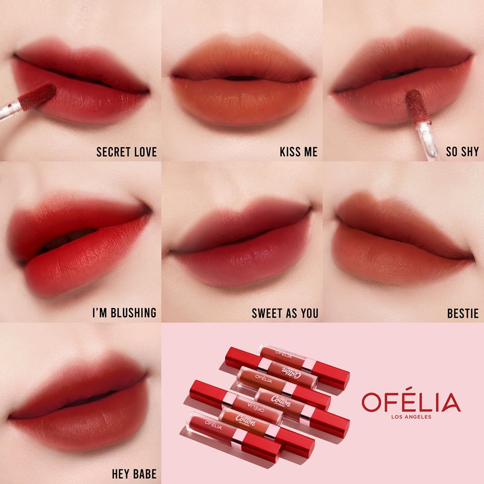 Bảng Màu OFÉLIA Cotton Lip Cream