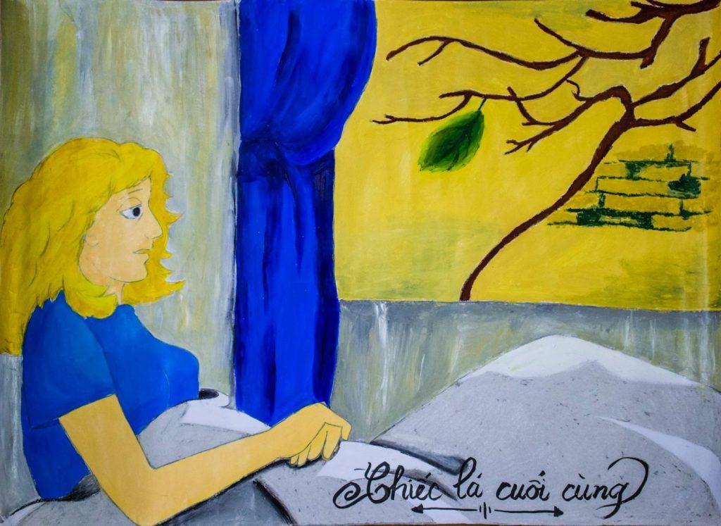 Bức tranh chiếc lá cuối cùng sót lại trên cây vừa là tình người, vừa là hy vọng.