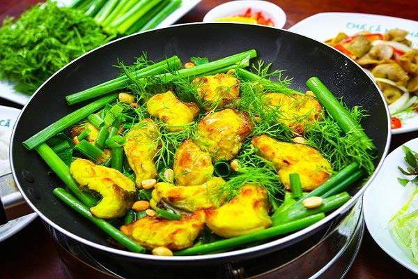 Món chả cá Lã Vọng rất nổi tiếng ở Hà Nội.