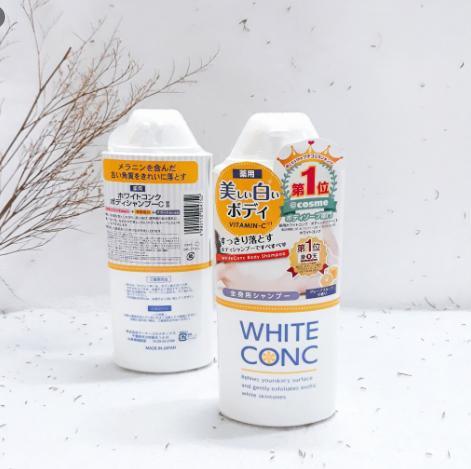 sữa tắm trắng da cho da dầu